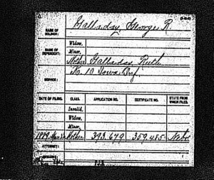 Ruth Golladay Pension application