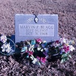 Marvin Blagg's grave